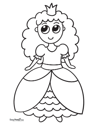 Princess Coloring Pages for Preschool