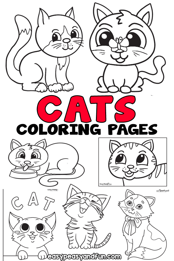 Printable Cat Coloring Pages