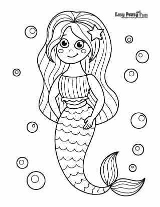 Underwater Mermaid Coloring Pages