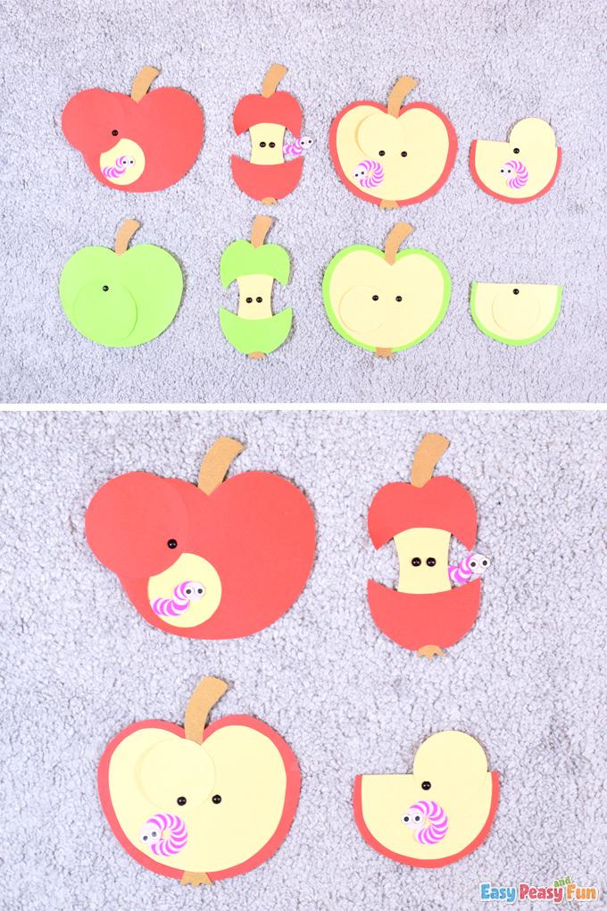 Artisanat à la pomme et au ver