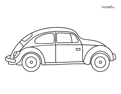 Old Car Coloring Sheet