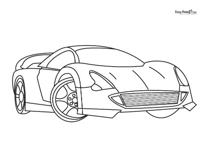 Sports Car Coloring Pages