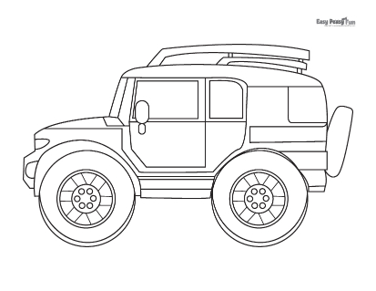 SUV Coloring Page