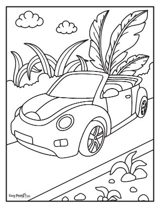 Cabriolet  Car Coloring Pages