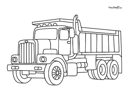 Big Truck Coloring Sheet