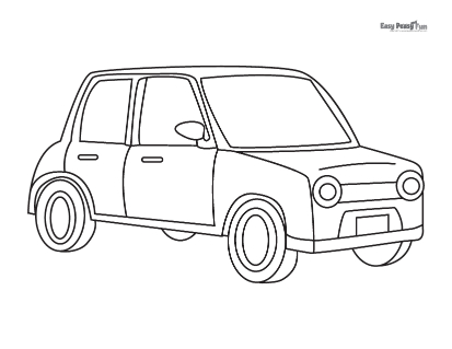 Personal Vehicle Coloring Page