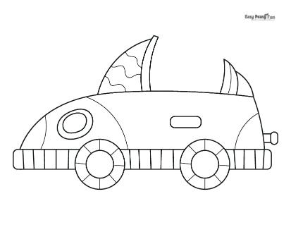 Futuristic Car Coloring Page