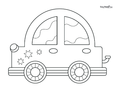 Cute Car Coloring Page
