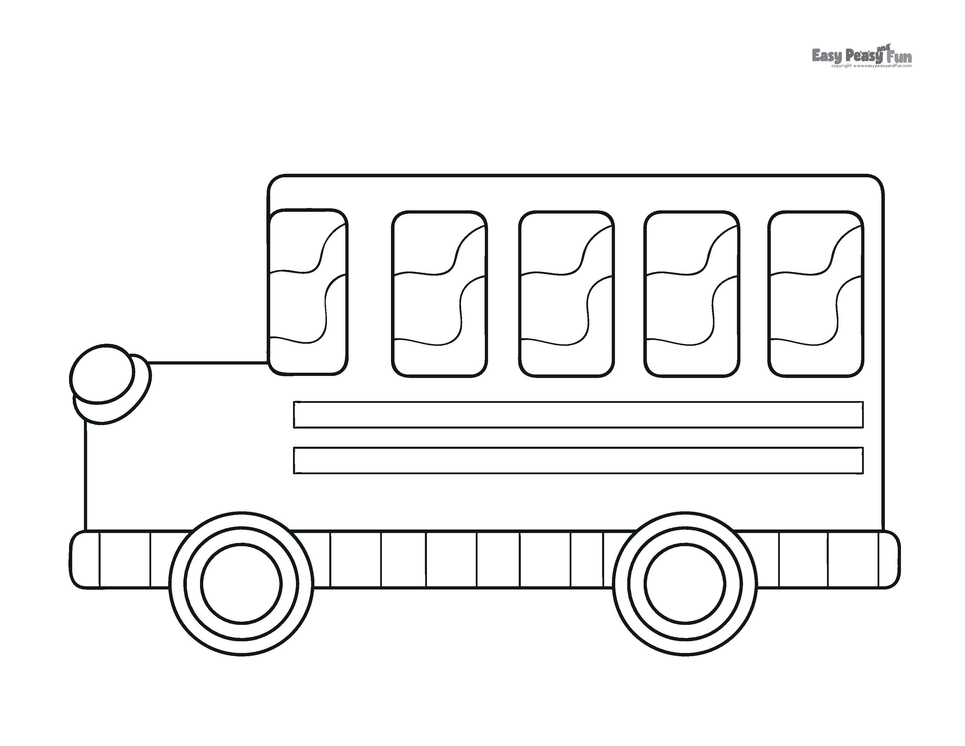 Bus Coloring Sheet