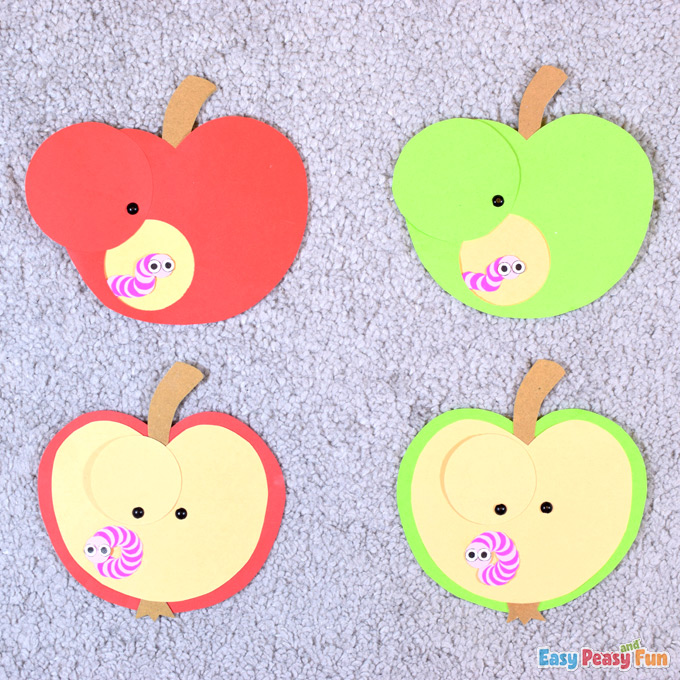 Bricolage Apple et Worm Paper Craft