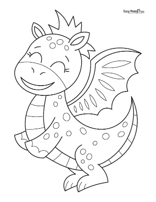 Dancing Dragon Coloring Page