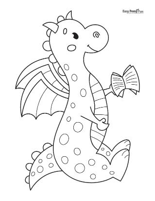 Dragon Reading a Book