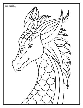 Big Dragon Coloring Page