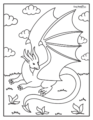 Dragon Coloring Sheet