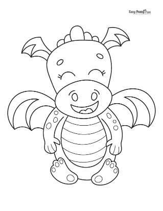 Laughing Dragon Coloring Page