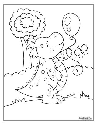 Dragon and Baloon