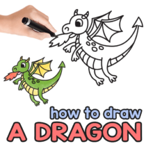 How to Draw a Dragon – Step by Step Drawing Tutorial