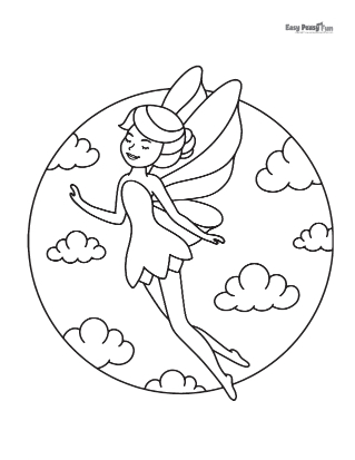 Flying Fairy Coloring Sheet