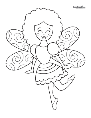 Dancing Fairy Coloring Pages