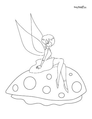 Sitting on a big Mushroom
