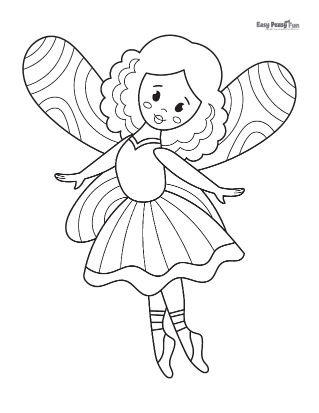 Balerina Fairy Coloring Page