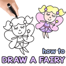 How to Draw a Fairy – Step by Step Drawing Tutorial