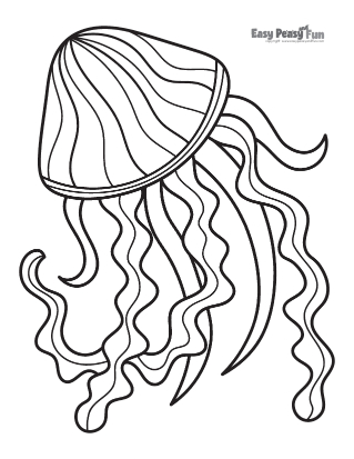 Jellyfish Dance Coloring Page