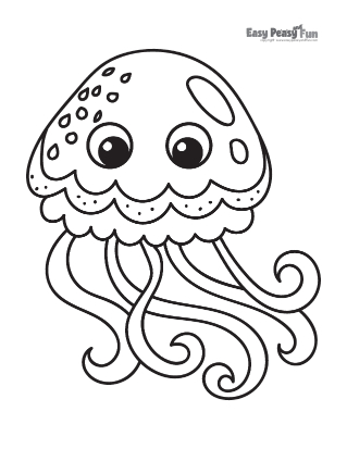 Baby Jellyfish Coloring Pages