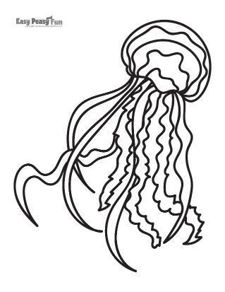 Jellyfish Coloring Sheets