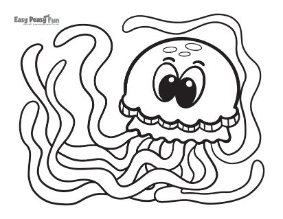 Big Jellyfish Coloring Page