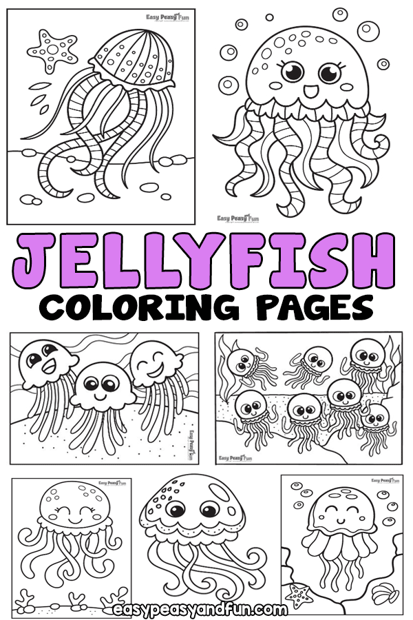 Printable Jellyfish Coloring Pages