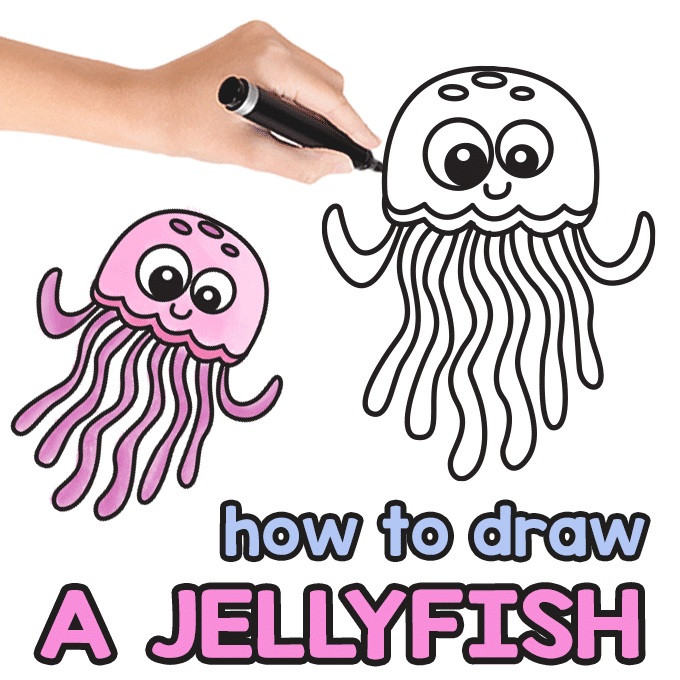 Jellyfish Directed Drawing Guide