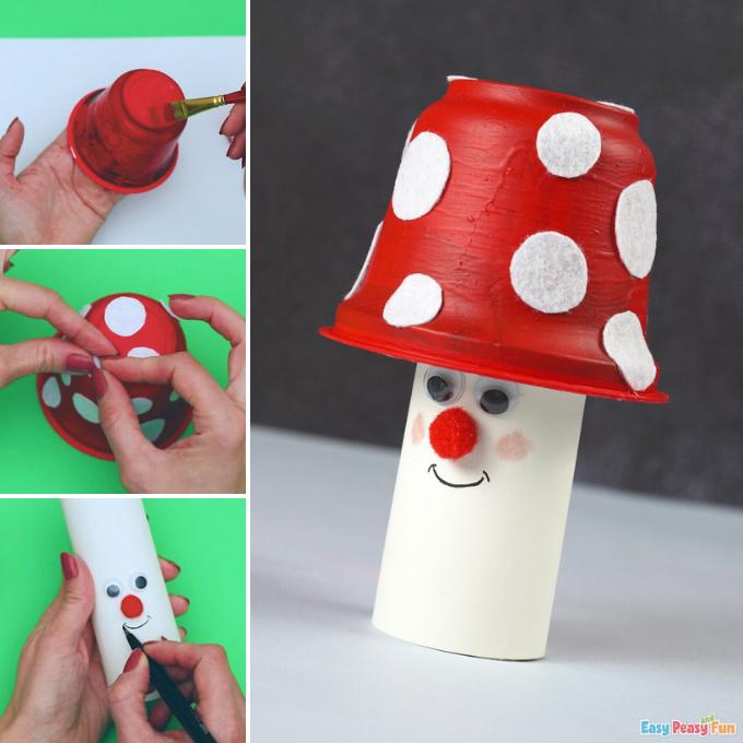 Mushroom Recycled Craft Idea