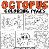 Octopus Coloring Pages – 30 Printable Sheets