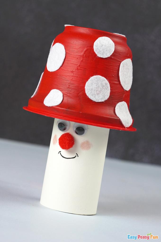 Paper Mushroom Fall Craft