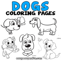 Dog Coloring Pages – 40 Printable Sheets