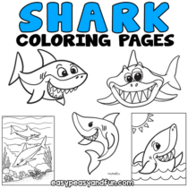 Shark Coloring Pages – 30 Printable Designs