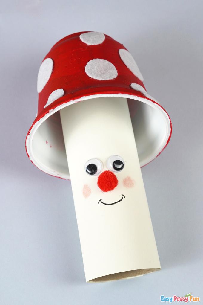 Red Mushroom Recycled Craft
