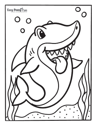 Fun Shark Coloring Pages