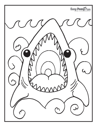 Shark Jaw Coloring Page