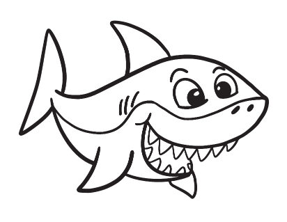 Smiling Shark Coloring Page