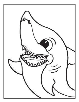 Waving Shark Coloring Sheet