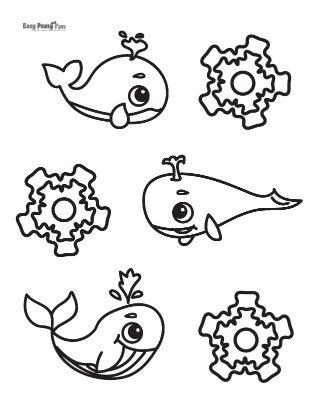 Whale Gathering Coloring Page