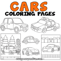 Car Coloring Pages – 30 Printable Sheets