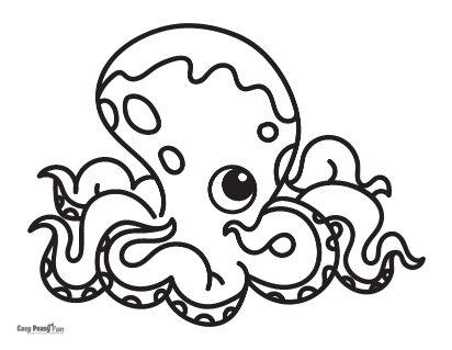 Big Octopus Coloring Page