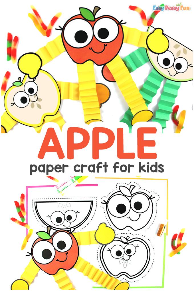Modèle d'artisanat de pomme facile
