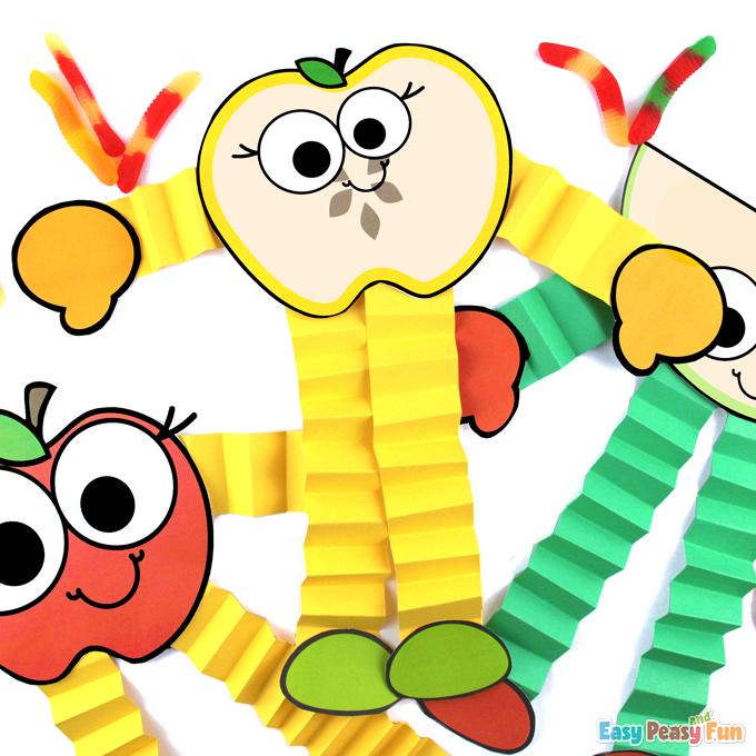 Bricolage facile aux pommes en papier