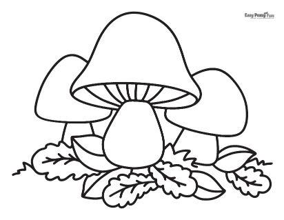 Feuille de coloriage de champignons