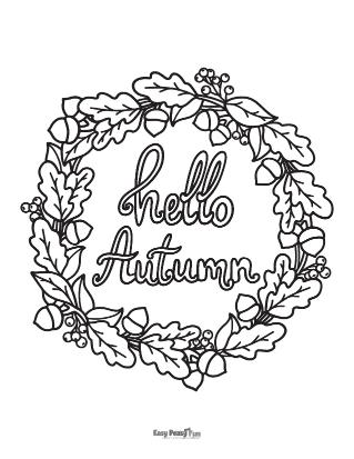 Feuille de coloriage d'automne