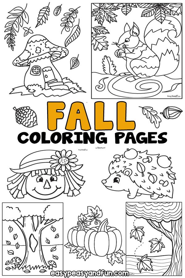 Coloriages d'automne à imprimer